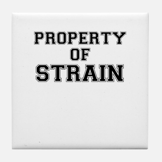Property of STRAIN Tile Coaster