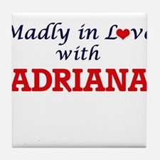 Madly in Love with Adriana Tile Coaster