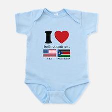 USA-SOUTH SUDAN Infant Bodysuit