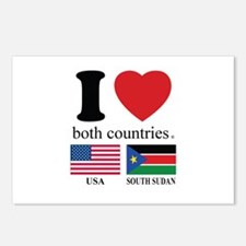 USA-SOUTH SUDAN Postcards (Package of 8)