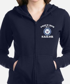 Proud Mom Of A US Navy Sailor Women's Zip Hoodie