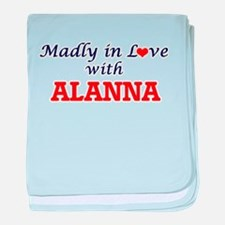 Madly in Love with Alanna baby blanket