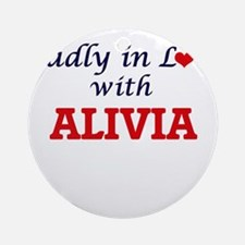 Madly in Love with Alivia Round Ornament