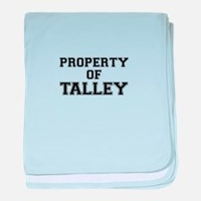 Property of TALLEY baby blanket