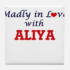 Madly in Love with Aliya Tile Coaster