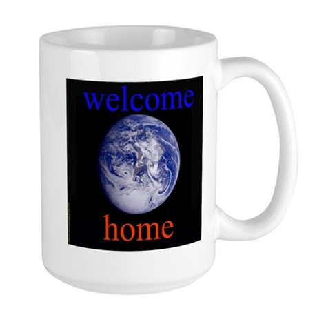 338.welcome home Large Mug