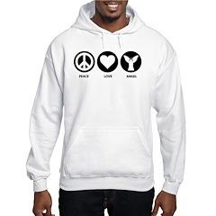 Peace Love Angel Hoodie