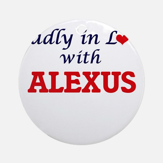 Madly in Love with Alexus Round Ornament