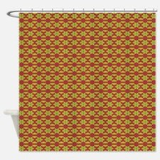 Grey Red Yellow Lines Shower Curtain