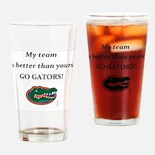 Cute Uf gators Drinking Glass