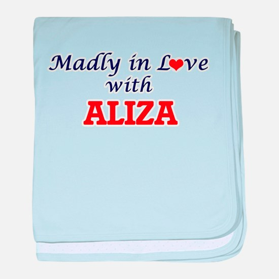 Madly in Love with Aliza baby blanket