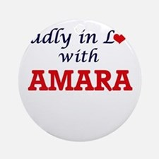 Madly in Love with Amara Round Ornament