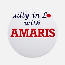 Madly in Love with Amaris Round Ornament