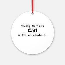Carl Ornament (Round)