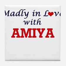 Madly in Love with Amiya Tile Coaster
