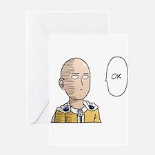 One Punch Man / OPM - Saitama Ok Greeting Cards