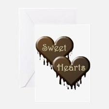 Chocolate Sweethearts Greeting Card