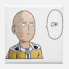 One Punch Man / OPM - Saitama Ok Tile Coaster