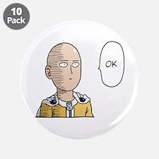 "One Punch Man / OPM - Saitam 3.5"" Button (10 pack)"