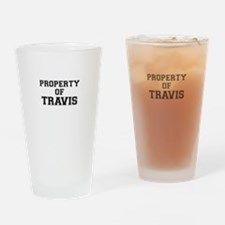 Property of TRAVIS Drinking Glass