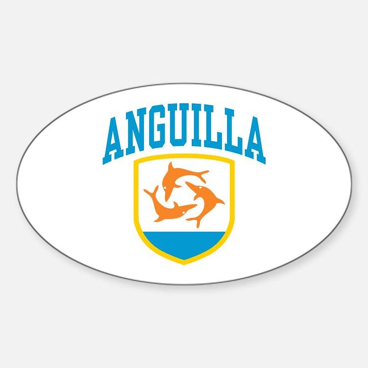 Anguilla Sticker (Oval)