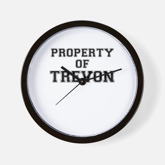 Property of TREVON Wall Clock