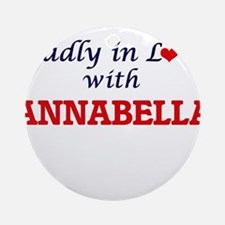 Madly in Love with Annabella Round Ornament