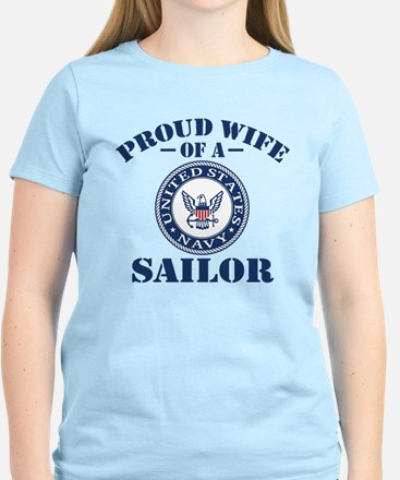 Proud Wife Of A US Navy Sail Women's Light T-Shirt