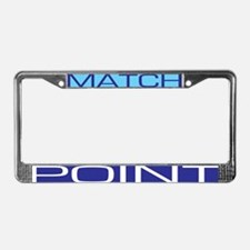 Match Point License Plate Frame