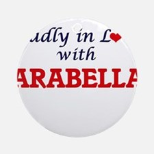 Madly in Love with Arabella Round Ornament
