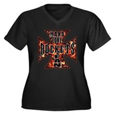 Rockets Women's Plus Size V-Neck Dark T-Shirt