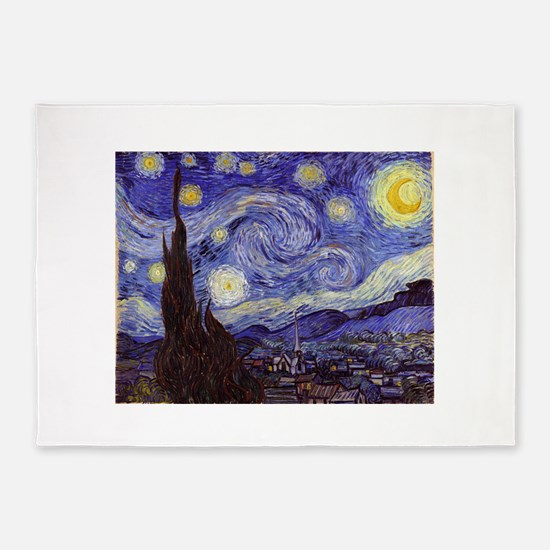 Vincent Van Gogh Starry Night 5'x7'Area Rug