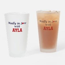 Madly in Love with Ayla Drinking Glass