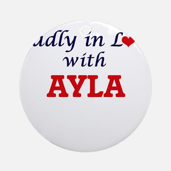Madly in Love with Ayla Round Ornament