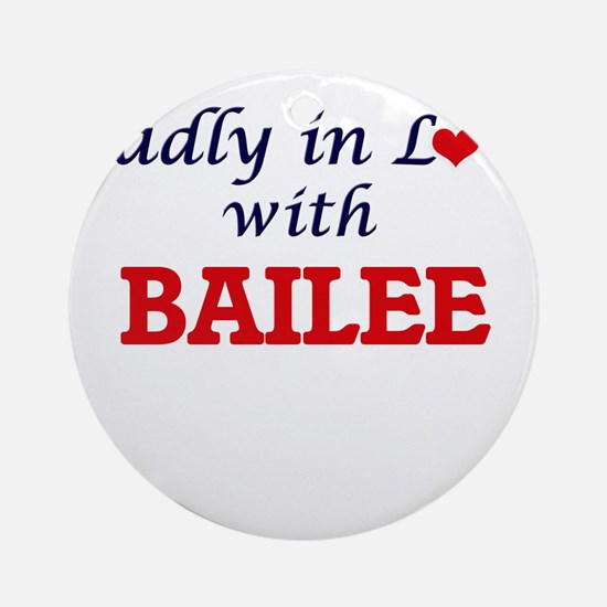 Madly in Love with Bailee Round Ornament