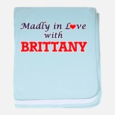 Madly in Love with Brittany baby blanket