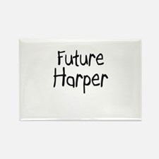 Future Harper Rectangle Magnet