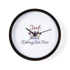 Jonah - Mommy's Little Prince Wall Clock
