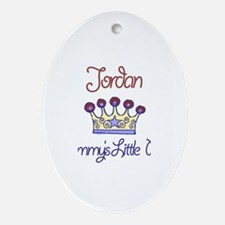 Jordan - Mommy's Little Princ Oval Ornament