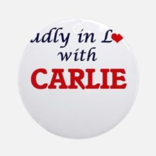 Madly in Love with Carlie Round Ornament