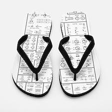 Cute Geek Flip Flops