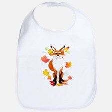 Happy Fox in Fall Bib
