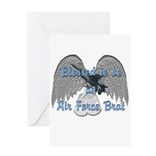 Blessed Air Force Brat Greeting Card