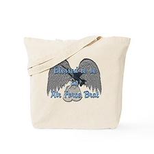 Blessed Air Force Brat Tote Bag