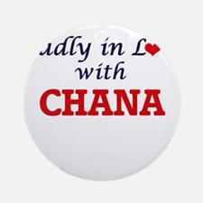 Madly in Love with Chana Round Ornament