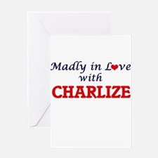 Madly in Love with Charlize Greeting Cards