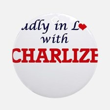Madly in Love with Charlize Round Ornament