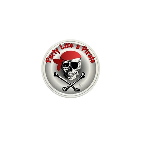 Party like a Pirate Mini Button (10 pack)