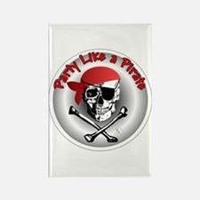 Party like a Pirate Rectangle Magnet (10 pack)