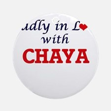 Madly in Love with Chaya Round Ornament